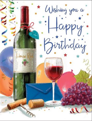 Wishing You A Happy Birthday Wine / Grapes